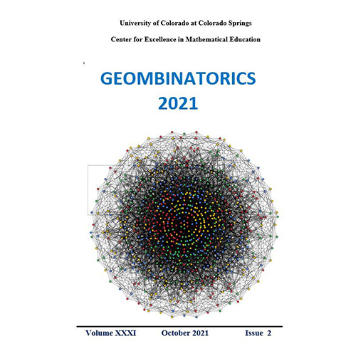 Geombinatorics Volume 31 - Issue 2